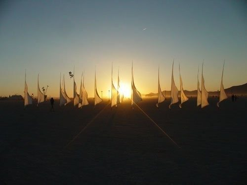 sunrise on Burningman-2006