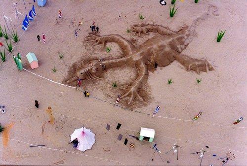 Huge sand sculpture- Berck 1998
