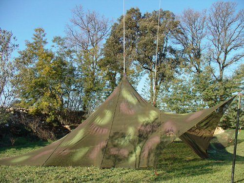 Tent made with camouflage net-2004
